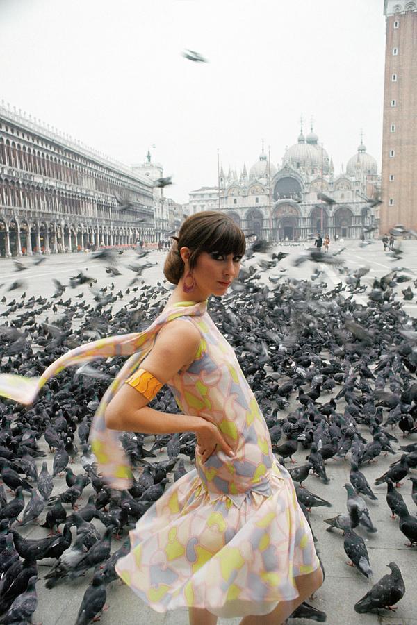 Pamela Barkentin In The Piazza San Marco Photograph by George Barkentin