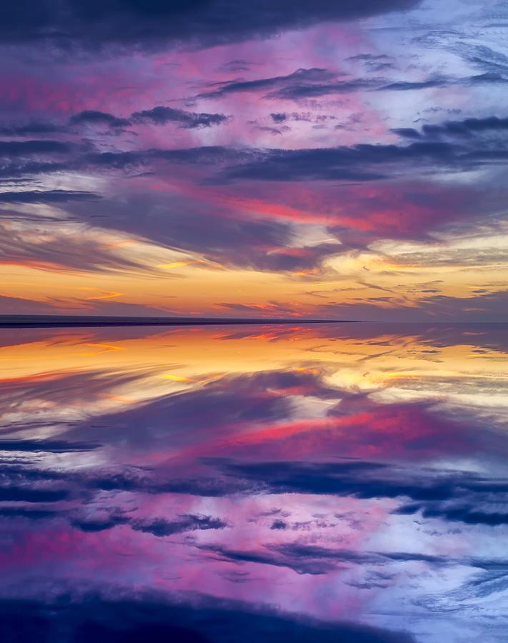 Pamlico Sky Reflection by Jim Dollar
