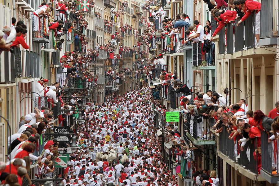 Pamplona Running Of The Bulls Photograph by Pablo Blazquez Dominguez