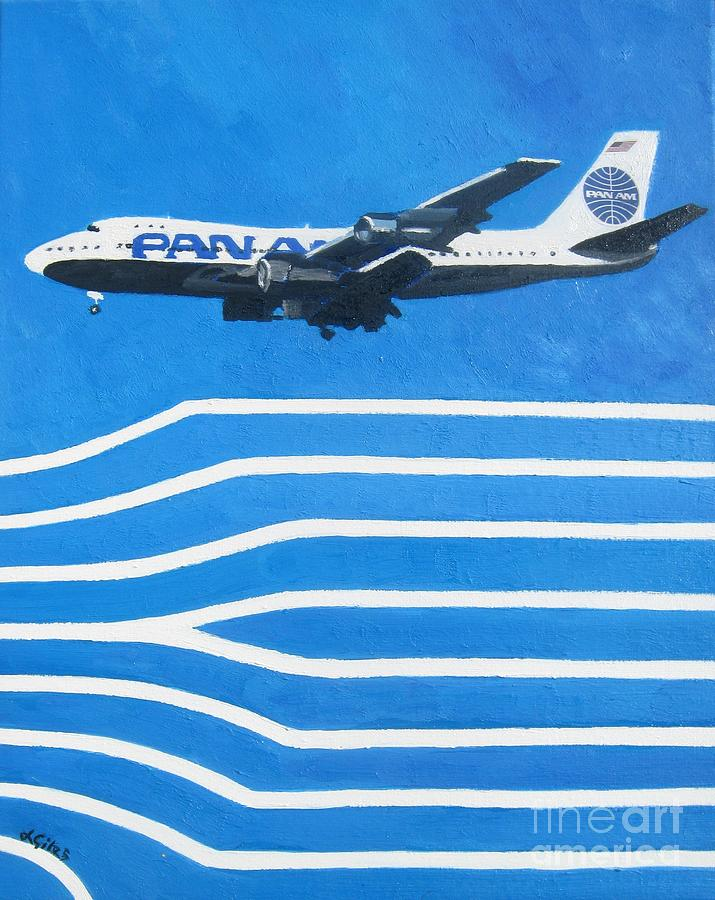 Pan Am Painting - Pan Am Clipper by Lesley Giles