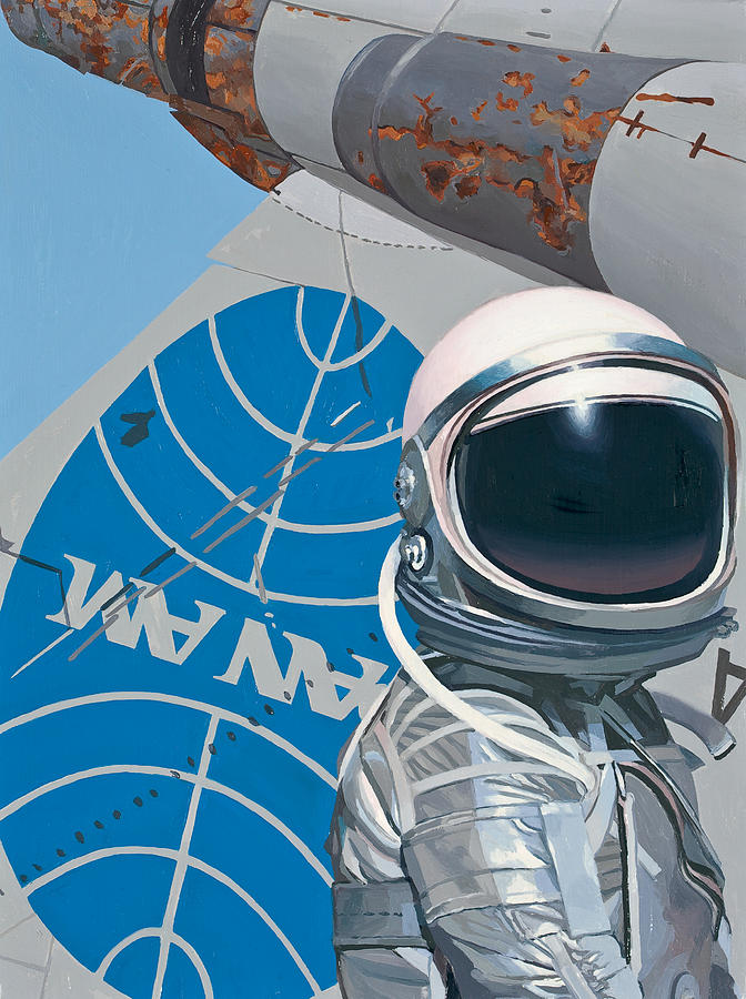 Astronaut Painting - Pan Am by Scott Listfield