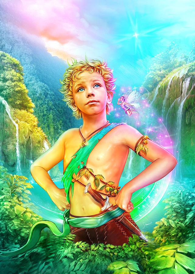 Fairies Digital Art - Pan by Shannon Maer