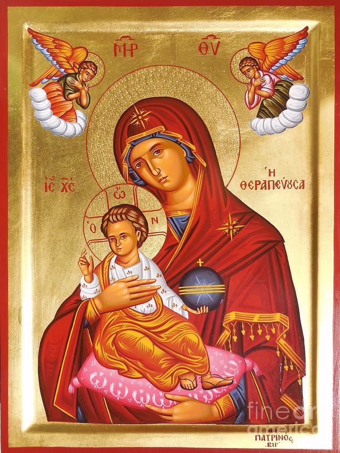 Greek Painting - Panagia - Virgin Mary by Theodoros Patrinos