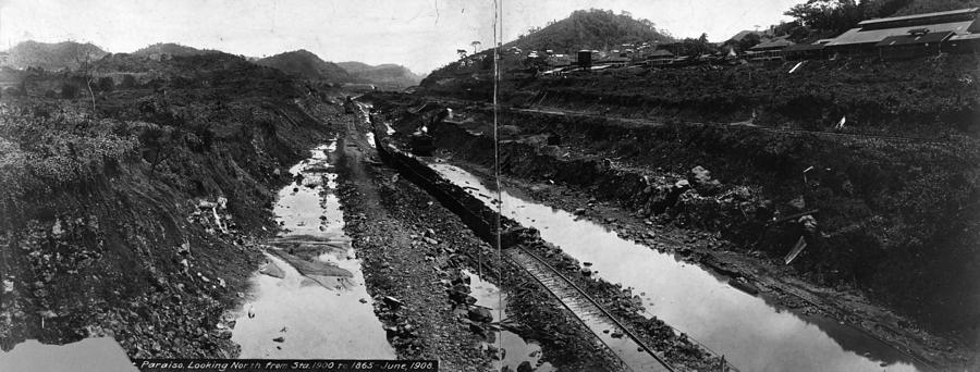 1908 Photograph - Panama Canal, 1908 by Granger