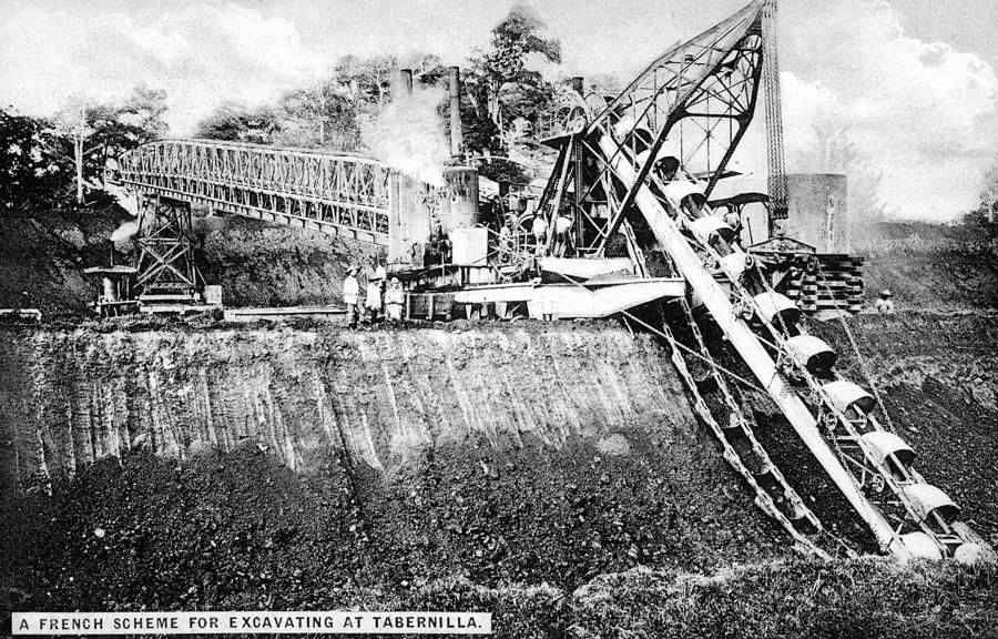 1890 Painting - Panama Canal French Work by Granger