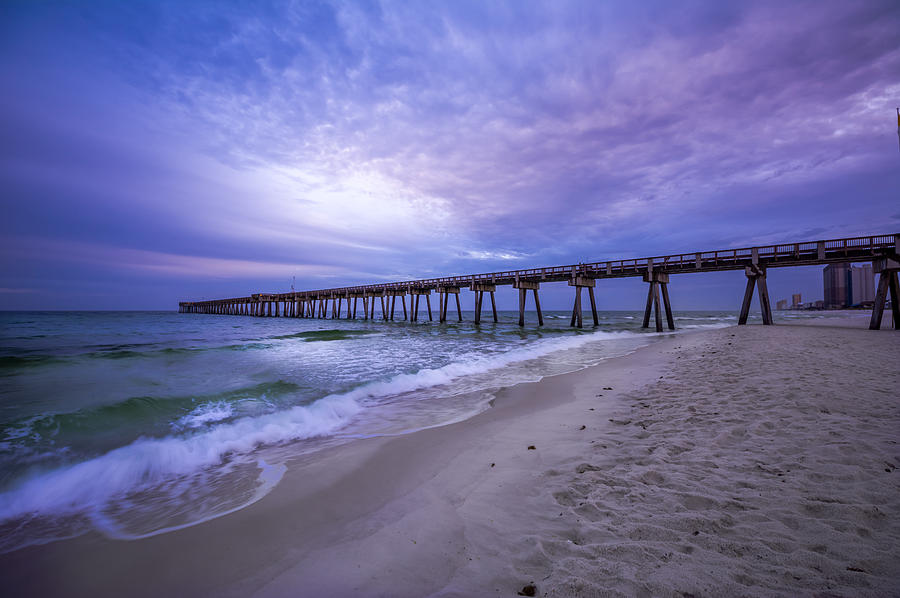 Panama City Beach Pier In The Morning Photograph