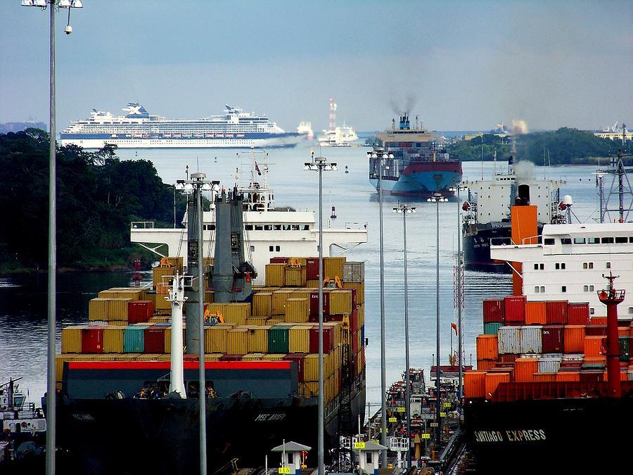 Panama Canal Photograph - Panama Express by Karen Wiles