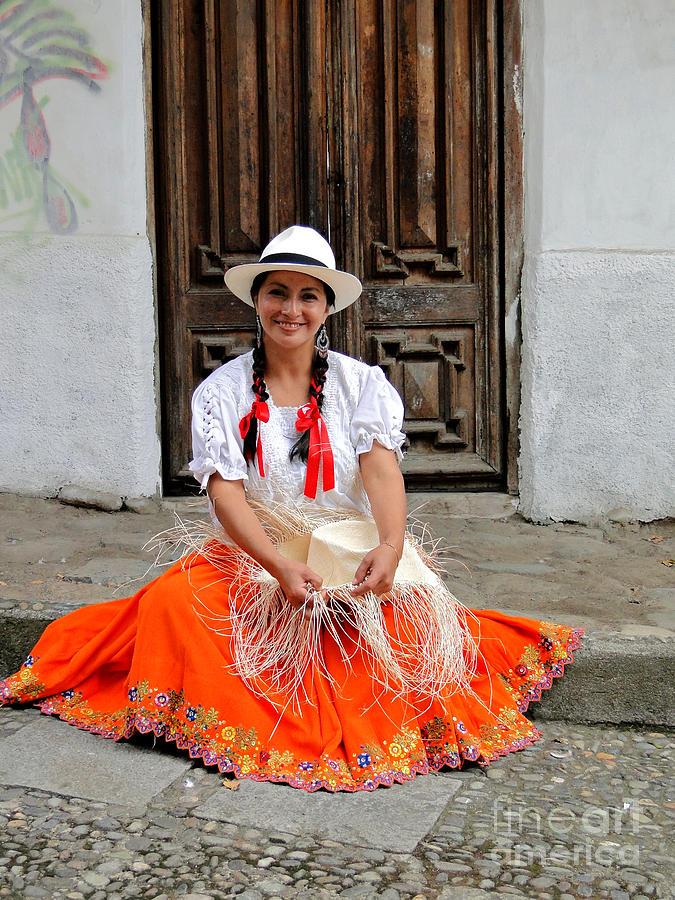 Lady Photograph - Panama Hat Maker by Al Bourassa