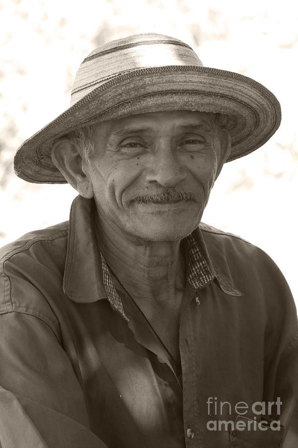 Heiko Photograph - Panamanian Country Man by Heiko Koehrer-Wagner