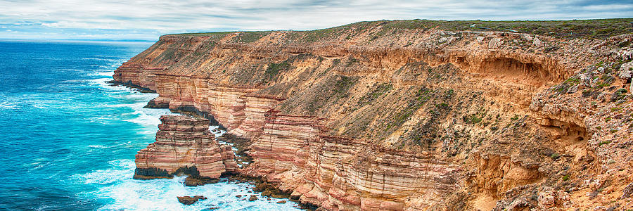 Australia Photograph - Panaromic Photo Of Red Bluff Beach by Yew Kwang