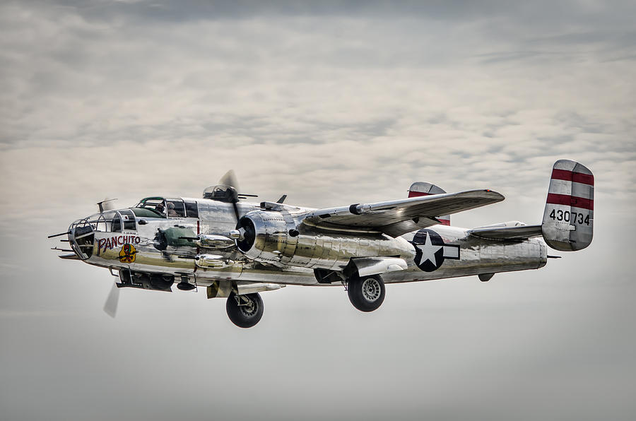 Airplane Photograph - Panchito B-25 by Brian Young