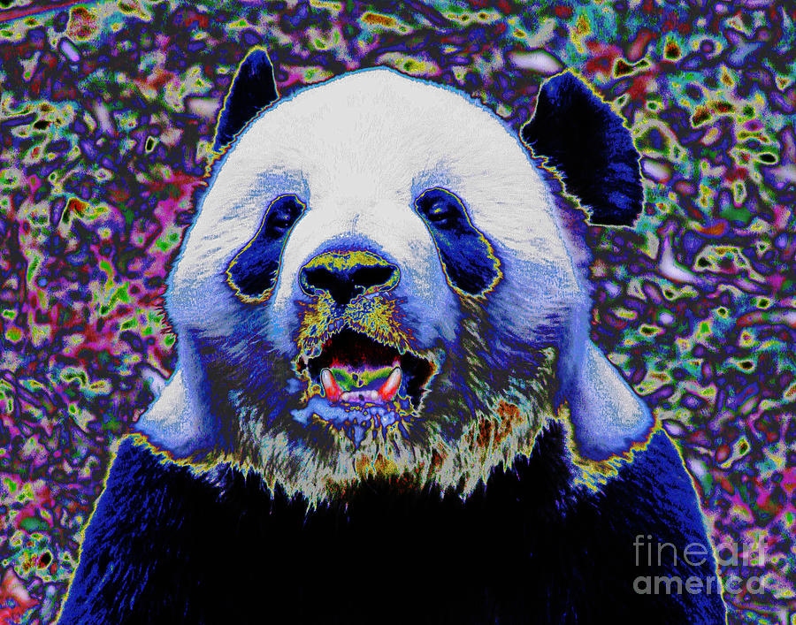 Panda Bear Smile by Larry Oskin