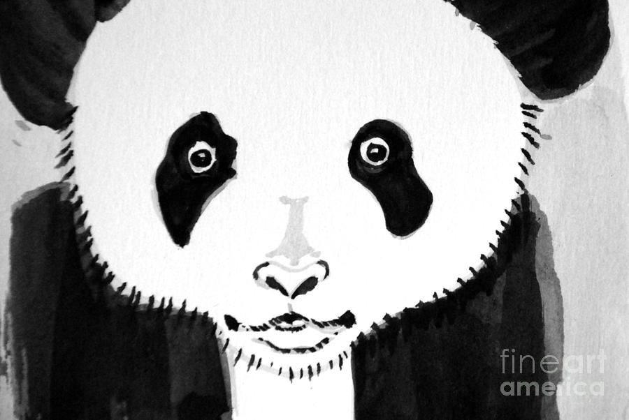 Panda Bear Watch Painting