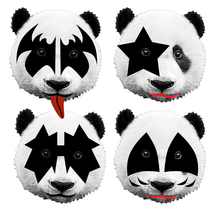 Gene Simmons Digital Art - Panda Kiss  by Mark Ashkenazi