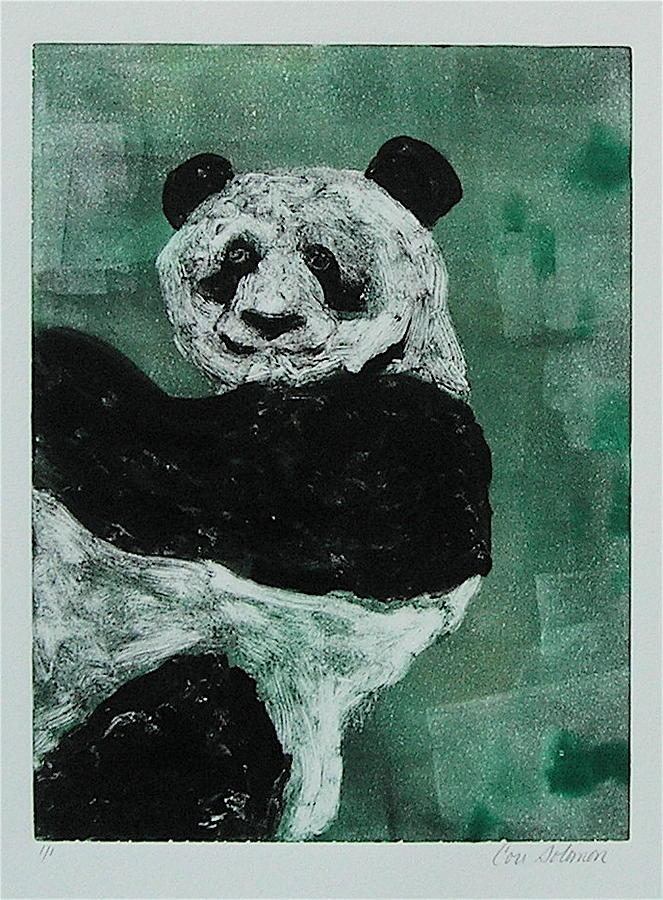 Panda Mixed Media - Panda - Monium by Cori Solomon