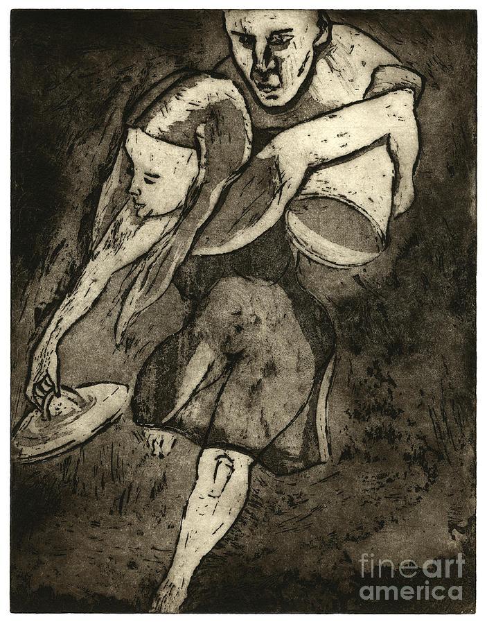 Pandoras Box - Buechse Der Pandora  - Fine Art Print - Stock Image Painting