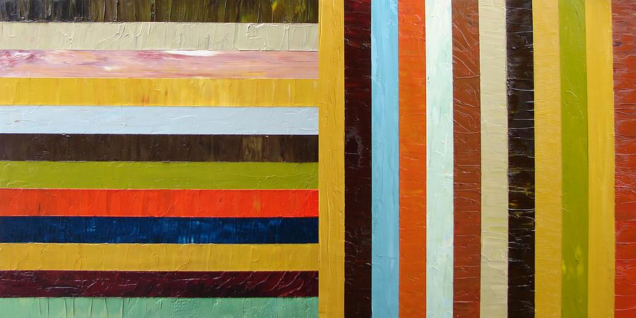 Oil Paintings Painting - Panel Abstract L by Michelle Calkins