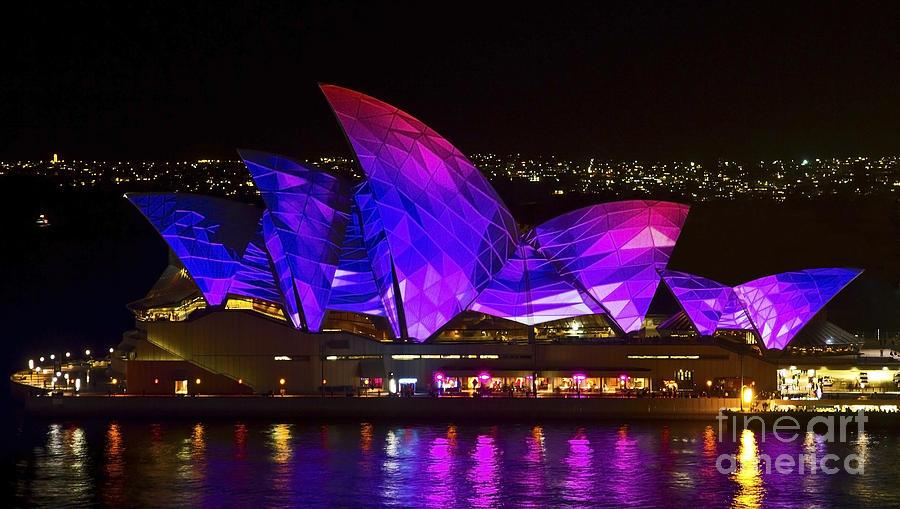 Sydney Photograph - Panel Sails by Bryan Freeman