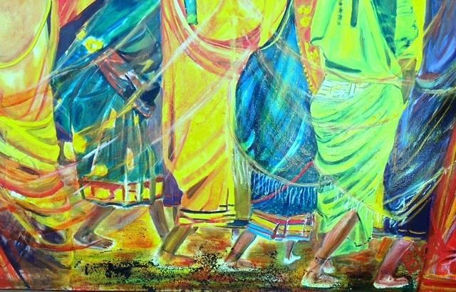 India Painting - Panjim by Peggy  Blood