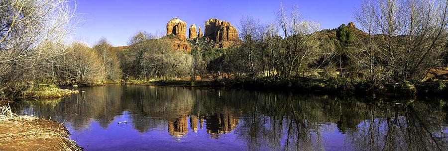 Arizona Photograph - Panorama At Red Rocks Crossing In Sedona Az by Teri Virbickis