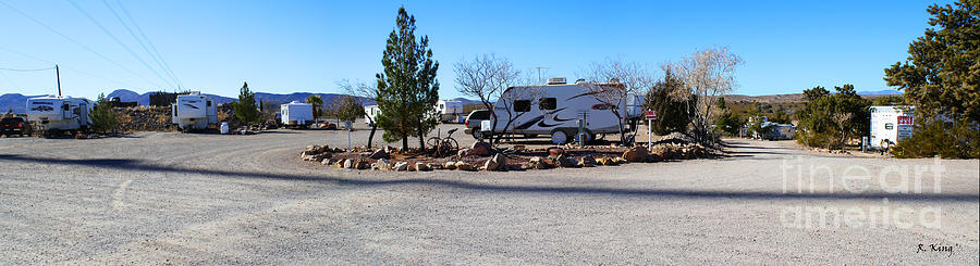 Roena King Photograph - Panorama Cedar Cove Rv Park Street 2 by Roena King