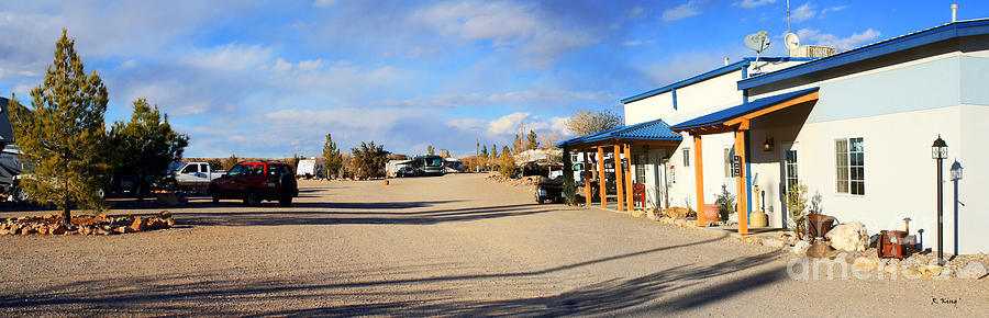 Mountains Photograph - Panorama Cedar Cove Rv Park Street 3 by Roena King