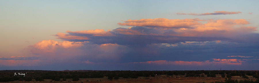 Landscape Photograph - Panorama Colors In The Clouds by Roena King