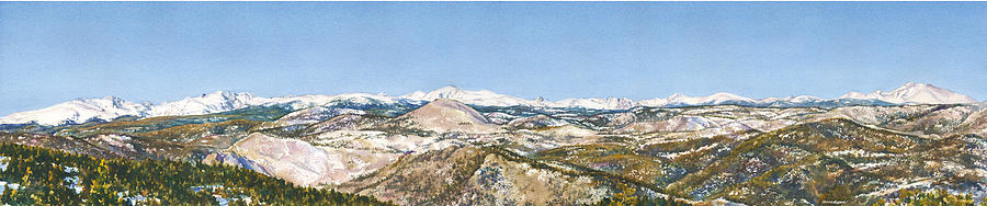 Panorama From Flagstaff Mountain Painting by Anne Gifford