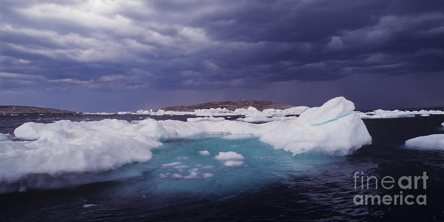 North America Photograph - Panorama Ice Floes In A Stormy Sea Wager Bay Canada by Dave Welling