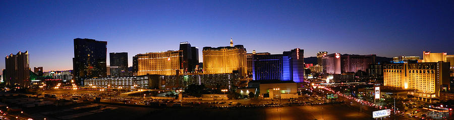 Panorama Las Vegas at Night by Sheila Kay McIntyre