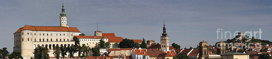 Mikulov Photograph - panorama - Mikulov castle by Michal Boubin