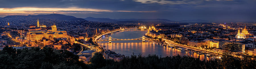 Budapest Photograph - Panorama Of Budapest by Thomas D M?rkeberg