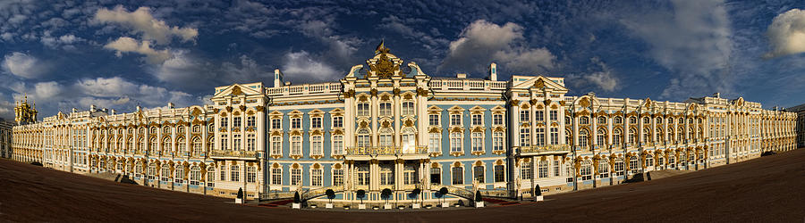 Architecture Photograph - Panorama Of Catherine Palace by David Smith