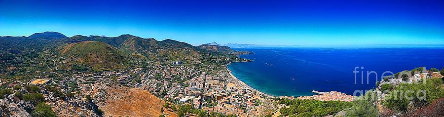 Cefalu Photograph - Panorama of Cefalu by Stefano Senise