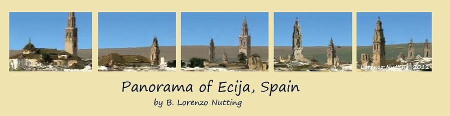 Andalucia Painting - Panorama of Ecija Spain by Bruce Nutting