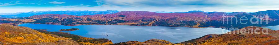 Adventure Photograph - Panorama Of Fish Lake Yukon Territory Canada by Stephan Pietzko