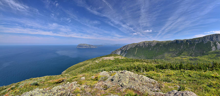 Newfoundland Photograph - Panorama of the Outer Bay of Islands, Newfoundland by Sebastien Coursol