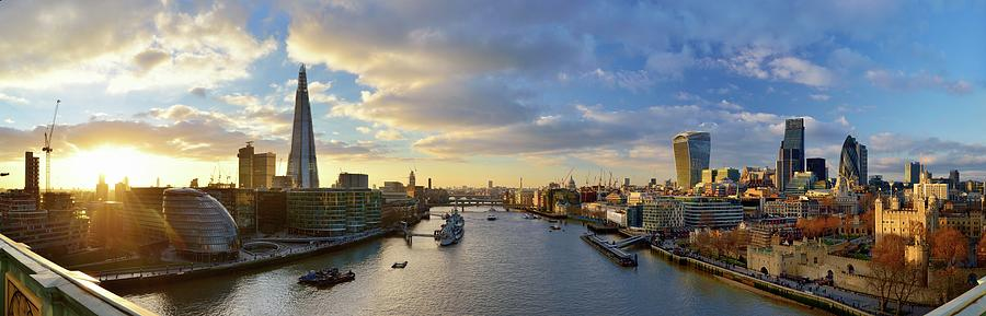 Panorama Of London Skyline At Sunset Photograph by Vladimir Zakharov