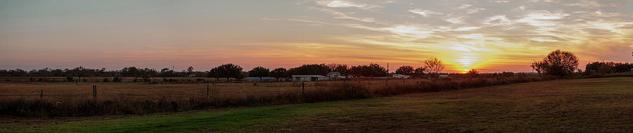 Panorama Of Sunset On South Texas Photograph by Tier Images