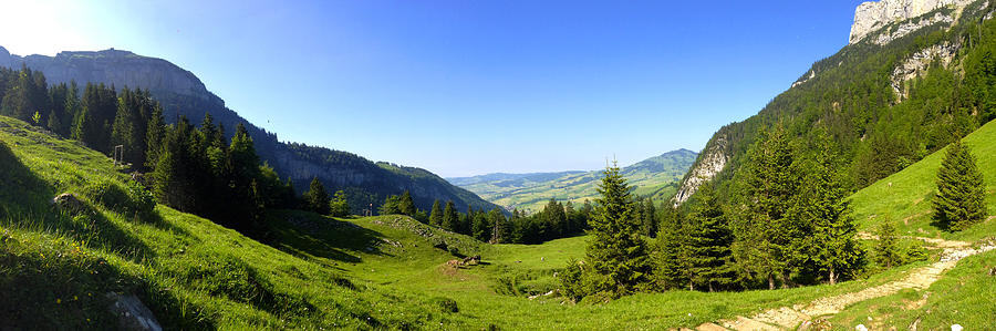 Appenzell Photograph - Panorama Of The Appenzeller Hills Near Mount Saentis Switzerland by PIXELS  XPOSED Ralph A Ledergerber Photography