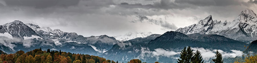 Panorama Of The Berchtesgaden Alps Photograph by Delectus