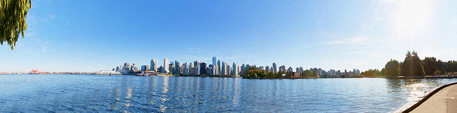 Vancouver Digital Art - Panorama Of Vancouver Harbor by Jodi Jacobson