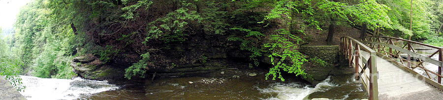 Wolf Creek Cascade Photograph - Panorama Of Wolf Creek At Letchworth State Park by Rose Santuci-Sofranko