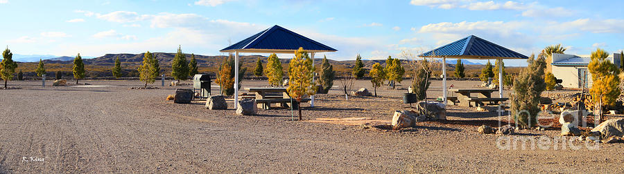 Mountains Photograph - Panorama Outdoor Community Area by Roena King