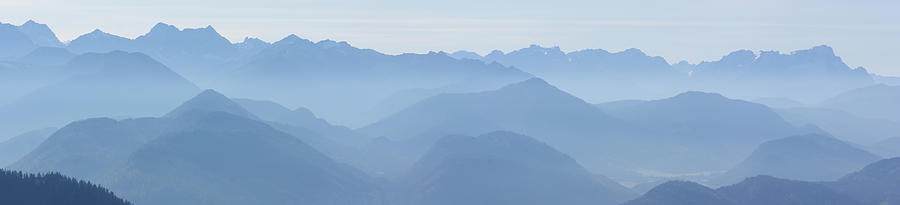 Landscape Photograph - Panorama View Of The Bavarian Alps by Rudi Prott