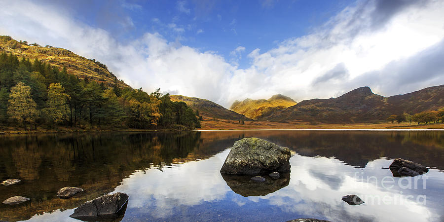 Blew Photograph - Panoramic Blea Tarn by Pete Reynolds