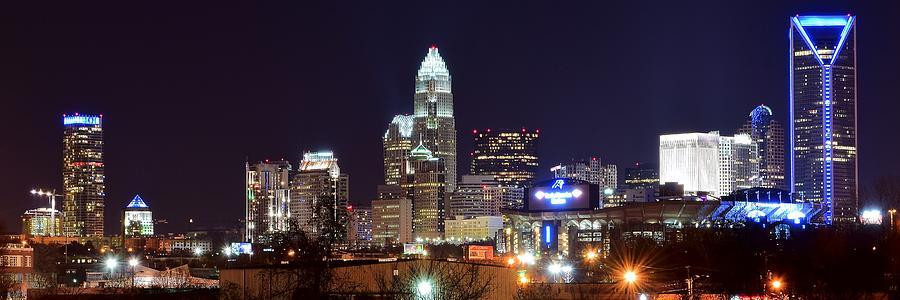 Panoramic Charlotte Night Photograph