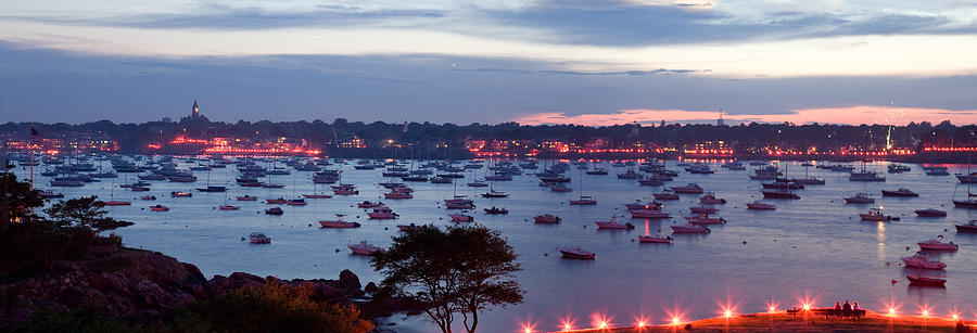 Marblehead Harbor Photograph - Panoramic Of The Marblehead Illumination by Jeff Folger