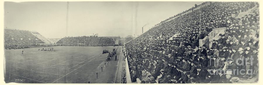 Panoramic Photo Of Harvard  Dartmouth Football Game Photograph