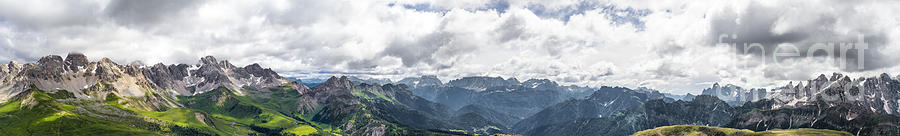 San Pellegrino Photograph - Panoramic View Of San Pellegrino Pass by Pier Giorgio Mariani